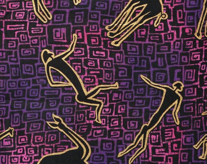 80s fabric cave man paleo Timeless Treasures 80s novelty print