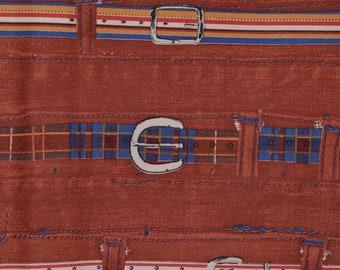 70s fabric deadstock horizontal print striped fabric Schwartz Liebman