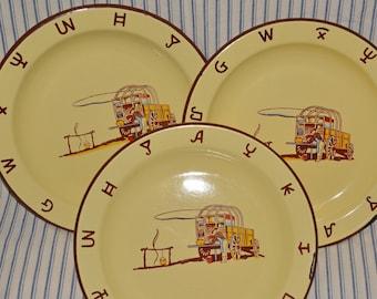 Monterrey ware plates enamelware for cowboy kitchen display
