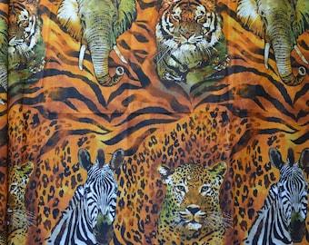 Rare fabric finds wild animals fabric African Wild Side by Robert Kaufman fabric
