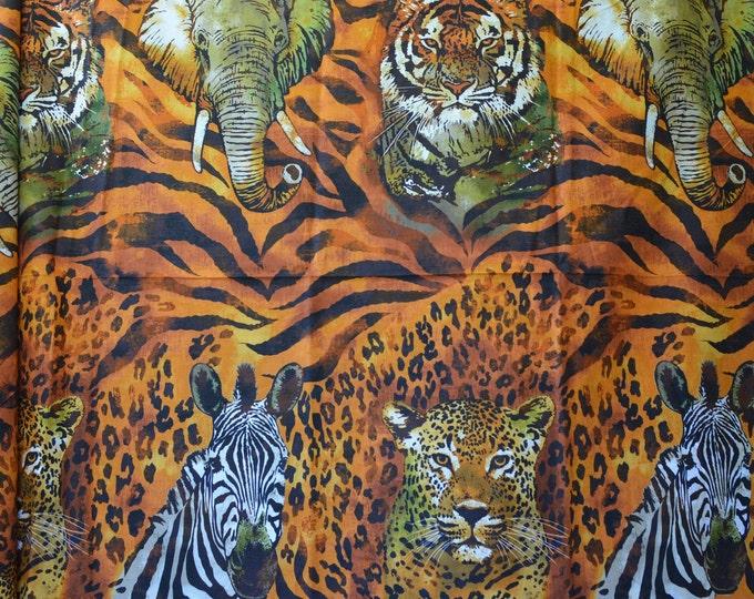 Exotic animal fabric tiger stripe Wild Side by Robert Kaufman