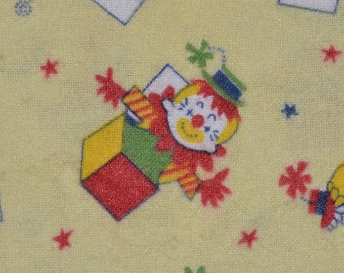 Vintage Baby fabric, flannel cotton fabric, jack in the box