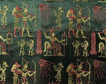 Vintage Egyptian rayon Jacquard brocade fabric