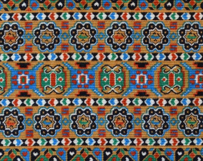 Bohemian Vintage corduroy fabric geometric striped folk art