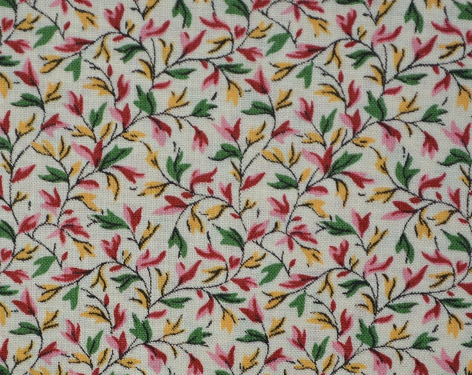 Small print fabric leaf fabric 100 percent cotton fabric by the yard