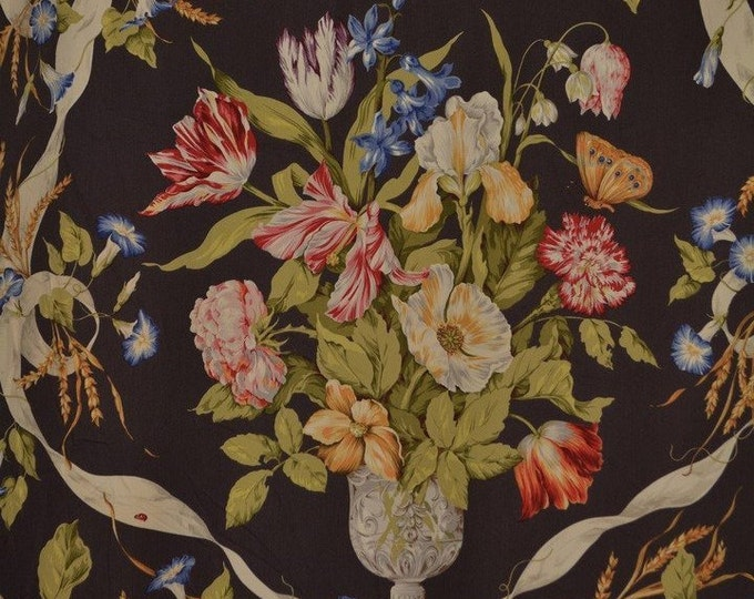 Scalamandre fabric floral bouquet Medici Archives