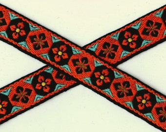 Vintage cotton trim, geometric Native Boho Folk Art