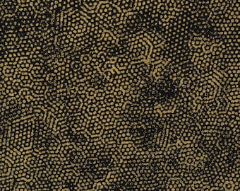 Andover fabric black gold fabric textured prints fabric Kessler Dimples