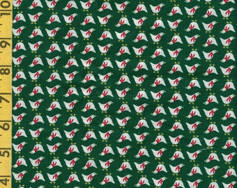 Christmas fabric vintage Manes fabric, micro scale ducks