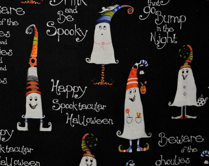 Halloween fabric by Henry Glass, goblins and ghosts