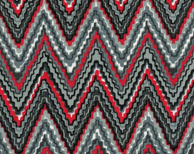 Chevron print fabric, flame stitch print upholstery fabric