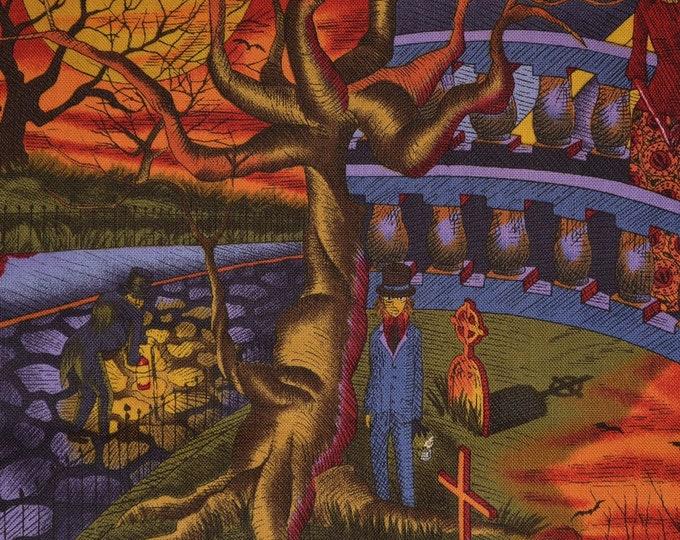 Gothic Halloween fabric Alexander Henry ghastlies Edward Gorey style