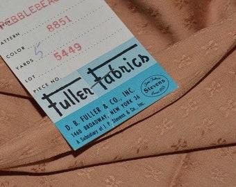 Midcentury modern Deadstock fabric 1950s Fuller Fabrics cotton jacquard