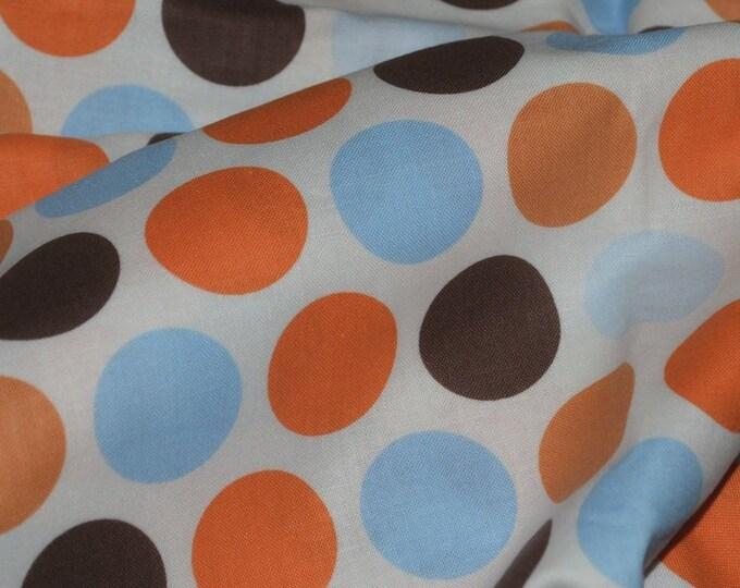 Retro polka dot fabric Large polka dot Camelot Cottons
