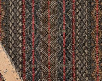 Jacquard upholstery fabric southwestern lodge