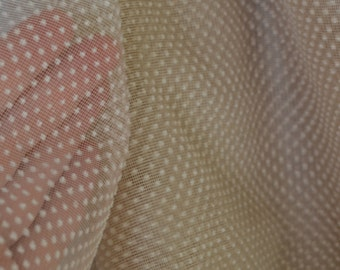 Flocked fabric vintage flocked dots nylon fabric