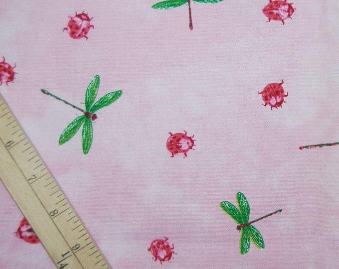 Pink cotton upholstery fabric Lauren Hancock Waverly