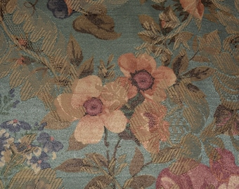 Vintage floral jacquard fabric Shabby Chic Upholstery fabric large floral fabric