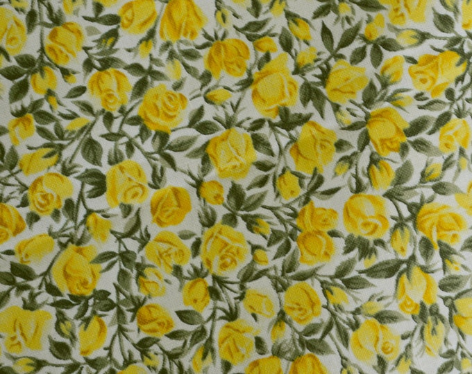 Yellow Roses fabric small roses floral fabric Northcott Silk Inc