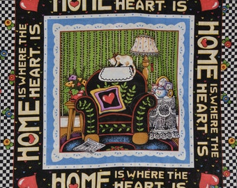 Staycation Home is Where the Heart is Mary ENGELBREIT fabric