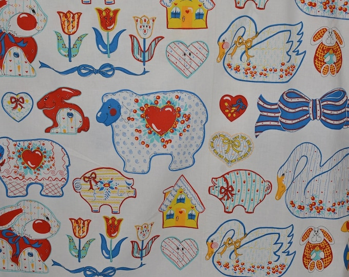 Kitschy kitchen fabric funky 90s fabric quirky fabric 3 yards plus