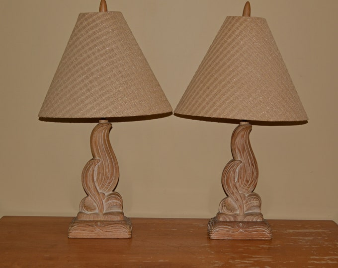 Midcentury decorative lamps, Heifetz original shades