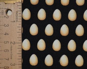 Eggs fabric small scale farm eggs Timeless Treasures half yard fabric