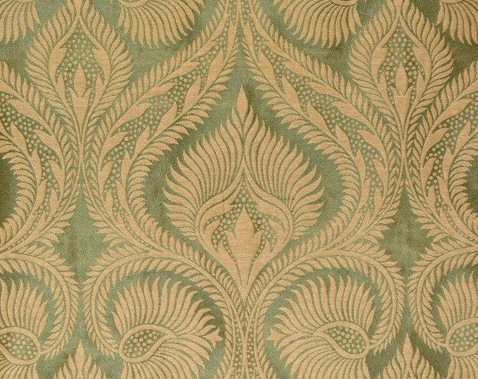 damask upholstery fabric silk by the yard, Ogee Pattern