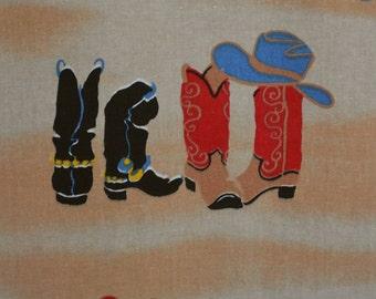 Cowboy fabric for Western nursery decor cowboy baby