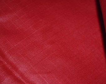 Red ripstop nylon fabric rip stop fabric for linings kites