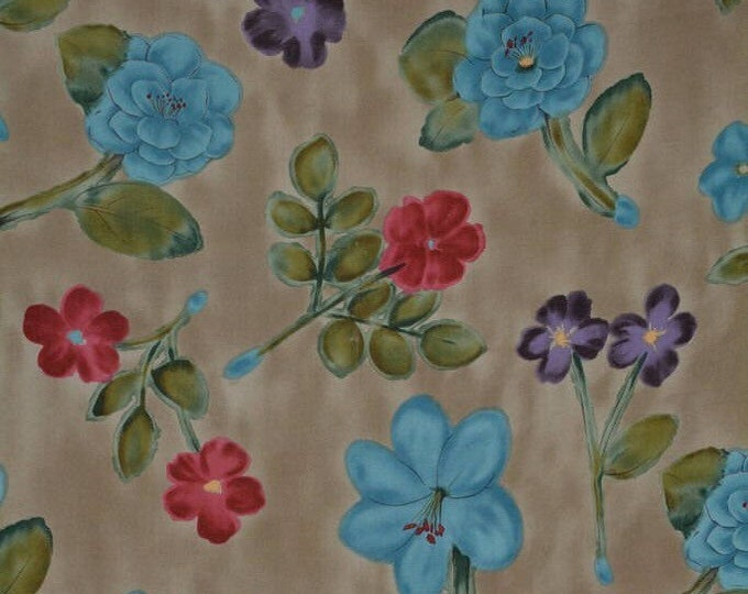 Alexander Henry rayon fabric, 1990s floral