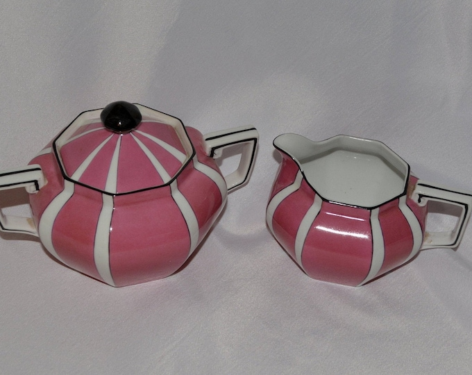 Art Deco cream and sugar set, Noritake China 1930s china