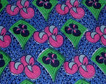 Bright fabric African wax print fabric