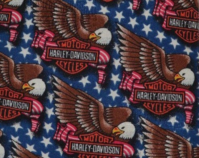 Harley Davidson silk tie with Harley eagle by Ralph Marlin, silk neckties