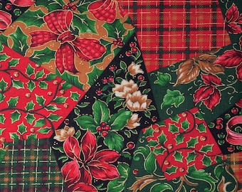Patchwork Christmas fabric, Joan Messmore