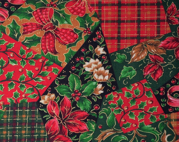 Patchwork Christmas fabric, Joan Messmore