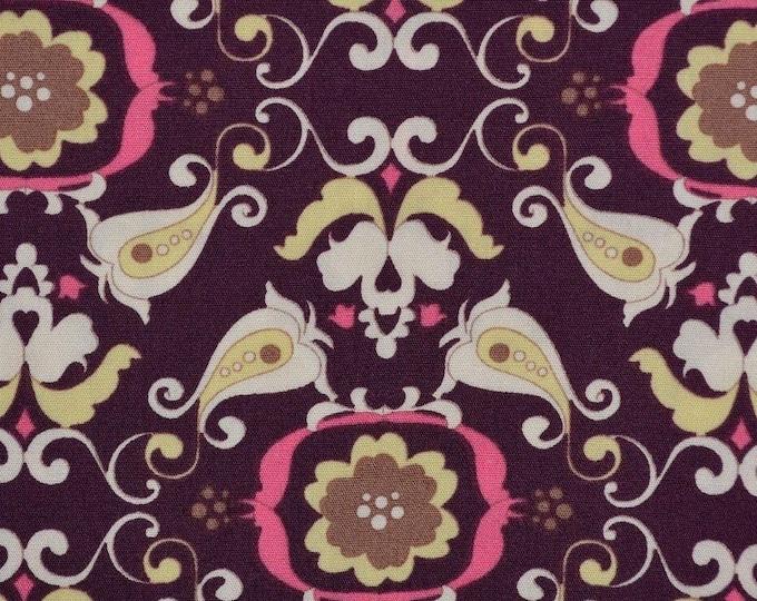 Art Gallery Dark Chic Paper fabric modern floral fabric Pima cotton fabric