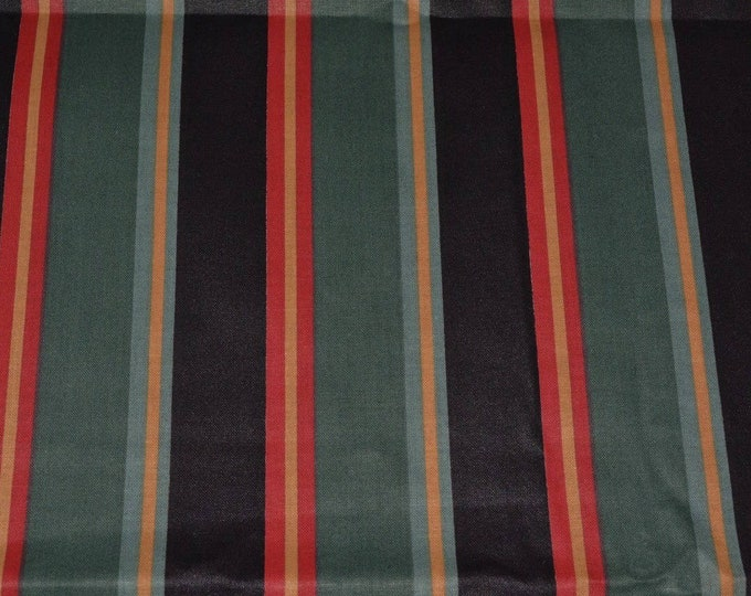 Black striped fabric chintz upholstery fabric drapery fabric for masculine decor Springs Industries