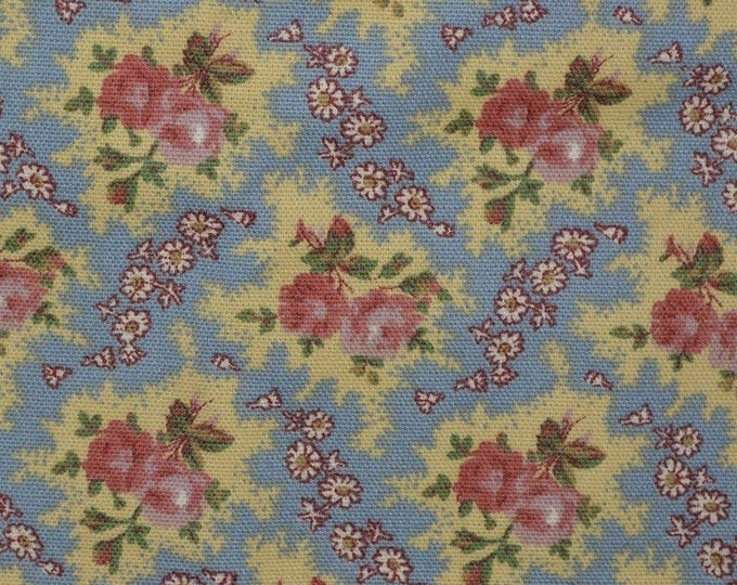 Shabby Chic upholstery fabric Country floral shabby cottage floral farmhouse chic cotton canvas