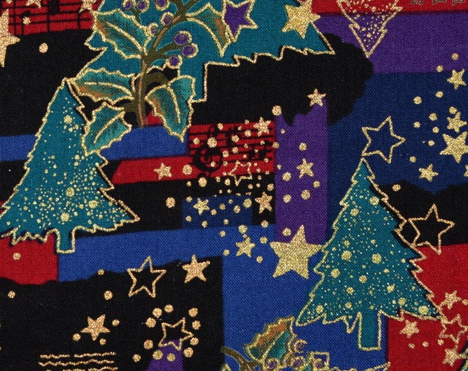 Hoffman fabric Christmas Winter Solstice trees