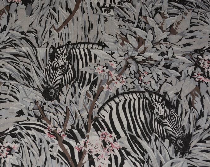 Zebra fabric animal print fabric African safari zebra material