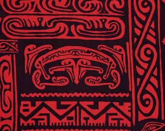 Hawaiian tribal fabric Tiki fabric Polynesian fabric Tapa fabric Samoan