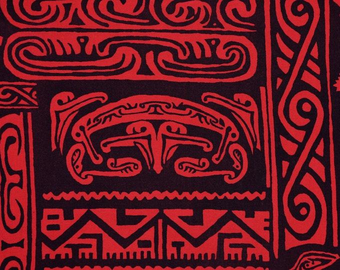 Tropical tiki fabric Polynesian fabric tapa style