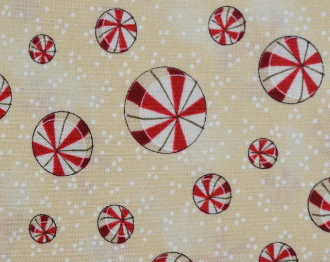 Christmas fabric by Clothworks, Peppermint candy, Diane Knott