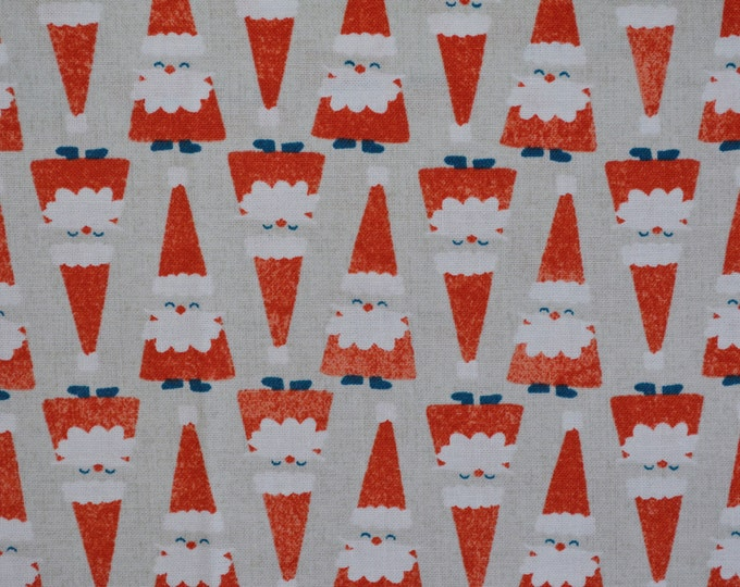 Santa gnomes fabric Cotton and Steel Christmas Melody Miller