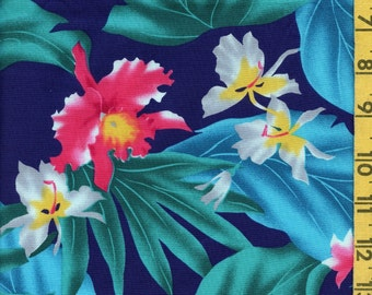 Hawaii fabric Vintage tropical Trans Pacific Textiles