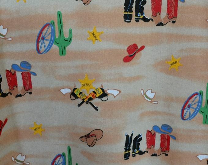 Cowboy fabric, southwest fabric, wild west theme