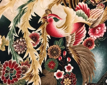Robert Kaufman fabric Asian floral Imperial Collection bird tsuzumi