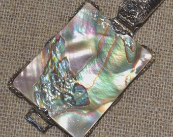 60s vintage Schreiner New York abalone shell belt