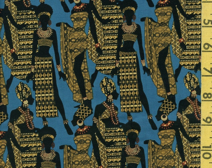 African women fabric, silhouettes of women, Michael Miller